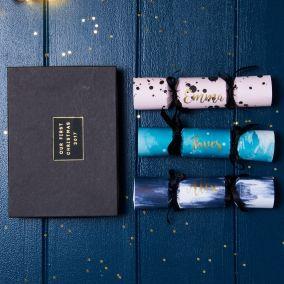 Personalised Mini Christmas Crackers Box Set