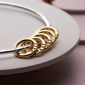 Personalised Mini Circle Bangle