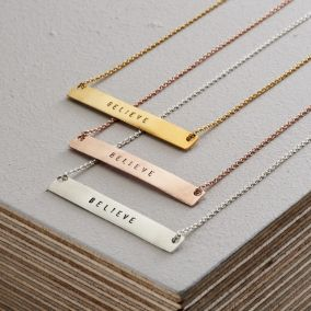 Personalised Flat Bar Necklace