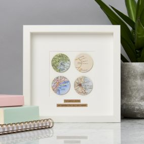 Personalised Four Circles Map Picture