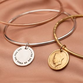Personalised Freedom Coin Bangle