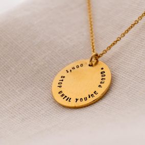 Personalised Freedom Coin Necklace