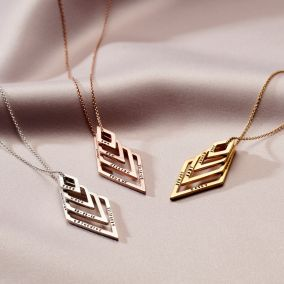 Personalised Deluxe Geo Necklace