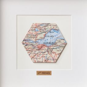 Personalised Single Hexagon Map Picture