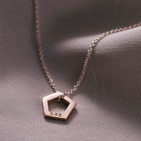Personalised Mini Open Geometric Necklace
