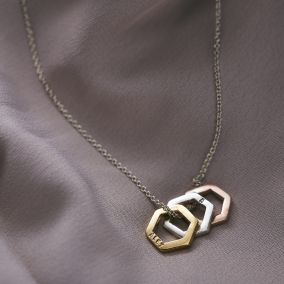 Personalised Mini Hexagon Necklace