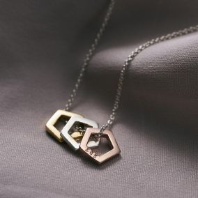 Personalised Mini Pentagon Necklace