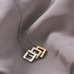 Personalised Mini Square Necklace