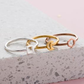 Mini Geometric Stacker Ring