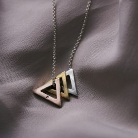 Personalised Mini Triangle Necklace