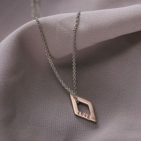 Personalised Mini Rhombus Necklace