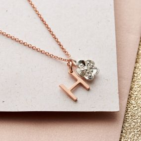 Personalised Initial & Charm Necklace