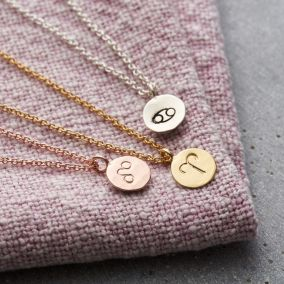 Small Zodiac Disc Necklace