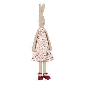 Giant Spotty Dress Rabbit Toy