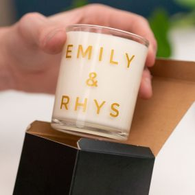 Perfect Match Personalised Candle & Match Set