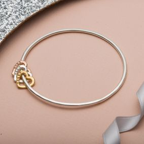 Personalised Heart Bangle