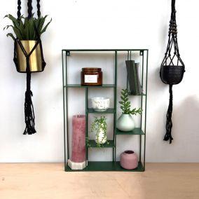 Green Metal Utility Display Shelf