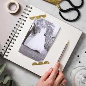 Personalised Grey Wedding Planner Book