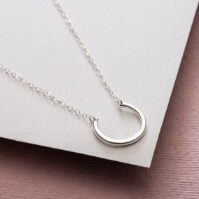Personalised Half Circle Necklace