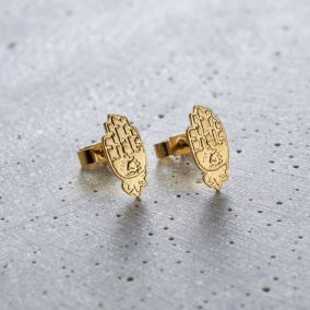 Hamsa Hand Stud Earrings