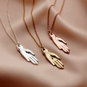 Personalised Initial Hand Necklace