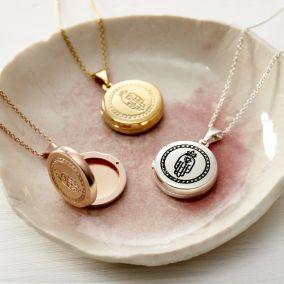 Small Hamsa Hand Locket Necklace