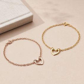 Personalised Mini Heart Bracelet