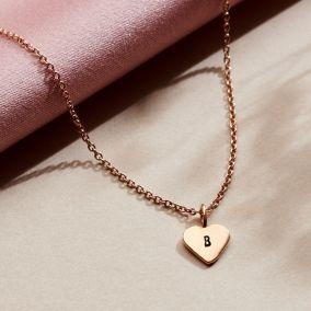 Personalised Initial Heart Charm Bracelet