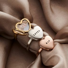 Personalised Heart Locket Ring
