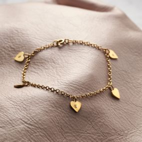Personalised Heart Station Bracelet