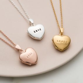 Personalised Mini Heart Locket Necklace