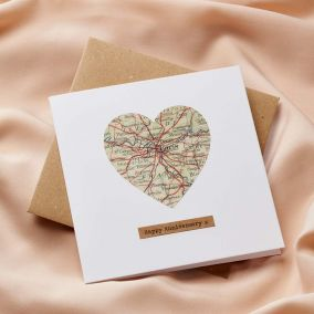 Personalised Vintage Map Card