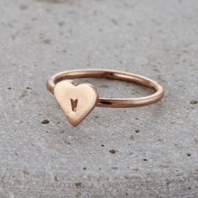 Personalised Mini Heart Ring