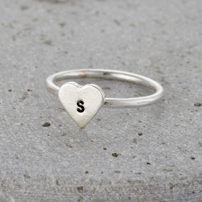 Personalised Mini Heart Ring