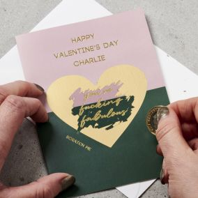 Personalised Valentine's Day Scratch Card