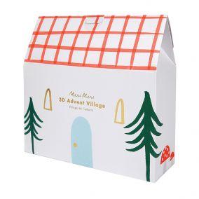 3D Christmas Advent Calendar Village