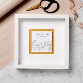 Personalised New Home Gold Foil Print