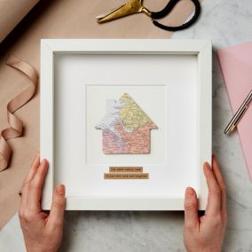 Personalised New Home Map Picture