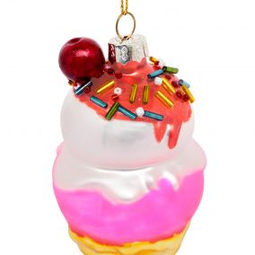Kitsch Ice Cream Hanging Christmas Decoration