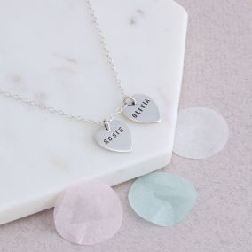 Personalised Heart Tag Necklace