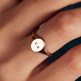 Personalised Initials Signet Ring