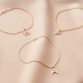 Initial Letter Charm Bracelet