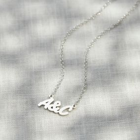 You & Me Initials Necklace