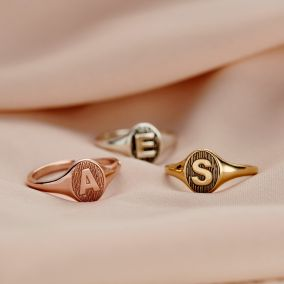 Initial Letter Signet Ring