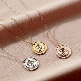 Personalised Wax Seal Initial Necklace
