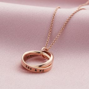 Personalised Interlinking Halo Script Necklace