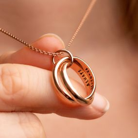 Personalised Interlinking Secret Script Necklace