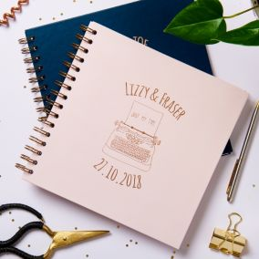 Personalised 'Just My Type' Wedding Album