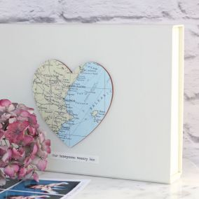 Personalised Vintage Map Keepsake Box