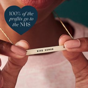 Personalised NHS 'Kind Human' necklace